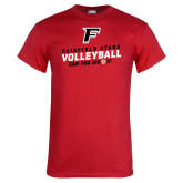 Red T Shirt-Volleyball Dig it
