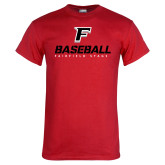 Red T Shirt-Baseball Type with Icon