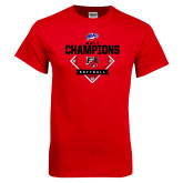 Red T Shirt-2017 MAAC Softball Champions - Diamond