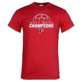 Red T Shirt-2017 Mens Soccer Champions