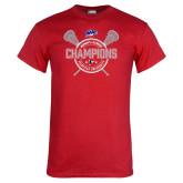 Red T Shirt-MAAC 2018 Womens Lacrosse Champions