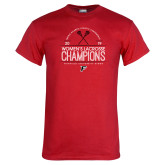 Red T Shirt-2019 Womens Lacrosse Champions