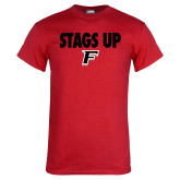 Red T Shirt-Stags Up