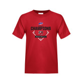 Youth Red T Shirt-2017 MAAC Softball Champions - Diamond