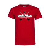 Youth Red T Shirt-2017 Field Hockey Champions