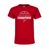 Youth Red T Shirt-2017 Mens Soccer Champions