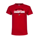 Youth Red T Shirt-2019 Womens Swimming Won the MAAC