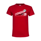 Youth Red T Shirt-2019 Womens Tennis Conference Champions