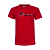 Youth Red T Shirt-Athletics