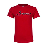 Youth Red T Shirt-Field Hockey