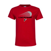 Youth Red T Shirt-Lacrosse Modern