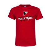 Youth Red T Shirt-Volleyball Dig it