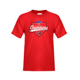 Youth Red T Shirt-2016 MAAC Baseball Champions