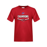 Youth Red T Shirt-2017 MAAC Softball Champions - Plate