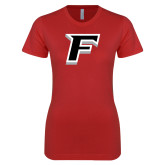 Next Level Ladies SoftStyle Junior Fitted Red Tee-F