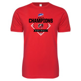 Next Level SoftStyle Red T Shirt-2017 MAAC Softball Champions - Diamond