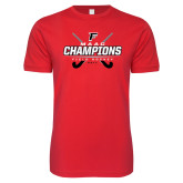Next Level SoftStyle Red T Shirt-2017 Field Hockey Champions