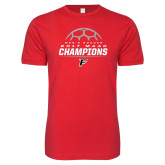 Next Level SoftStyle Red T Shirt-2017 Mens Soccer Champions