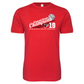 Next Level SoftStyle Red T Shirt-2019 Womens Tennis Conference Champions