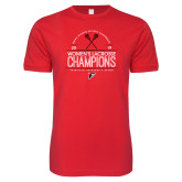 Next Level SoftStyle Red T Shirt-2019 Womens Lacrosse Champions