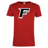 Ladies Red T Shirt-F Distressed