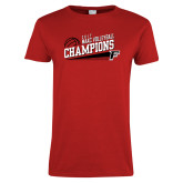 Ladies Red T Shirt-2017 Volleyball Champions