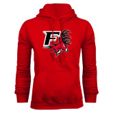 Red Fleece Hood-Official Logo