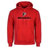 Red Fleece Hood-Baseball Type with Icon