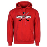 Red Fleece Hoodie-2017 Field Hockey Champions