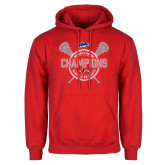 Red Fleece Hoodie-MAAC 2018 Womens Lacrosse Champions