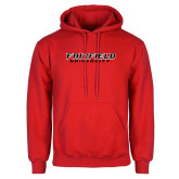 Red Fleece Hood-Fairfield University Stacked