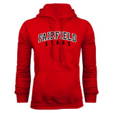 Red Fleece Hood-Fairfield Stags Stacked