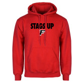 Red Fleece Hoodie-Stags Up
