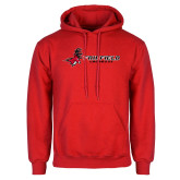 Red Fleece Hoodie-Lacrosse