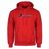 Red Fleece Hoodie-Field Hockey