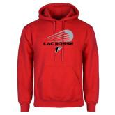Red Fleece Hoodie-Lacrosse Modern