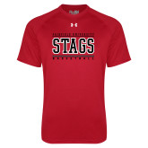 Under Armour Red Tech Tee-Basketball Stacked