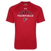 Under Armour Red Tech Tee-Basketball Half Ball