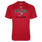 Under Armour Red Tech Tee-Field Hockey Arched