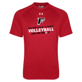 Under Armour Red Tech Tee-Volleyball Dig it