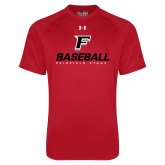 Under Armour Red Tech Tee-Baseball Type with Icon