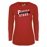 Ladies Syntrel Performance Red Longsleeve Shirt-Club Hockey