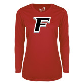 Ladies Syntrel Performance Red Longsleeve Shirt-F