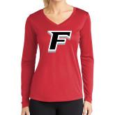 Ladies Syntrel Performance Red Longsleeve Shirt-F