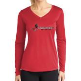 Ladies Syntrel Performance Red Longsleeve Shirt-Lacrosse