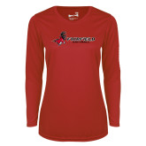 Ladies Syntrel Performance Red Longsleeve Shirt-Softball
