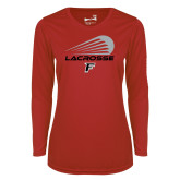 Ladies Syntrel Performance Red Longsleeve Shirt-Lacrosse Modern