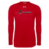 Under Armour Red Long Sleeve Tech Tee-Field Hockey