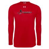 Under Armour Red Long Sleeve Tech Tee-Baseball
