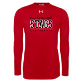 Under Armour Red Long Sleeve Tech Tee-Basketball Stacked